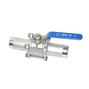 Кран шаровый   ABRA-BV61 под приварку (сварку) ду15 ру40 ABRA-BV61A-Q61F-1000-3A стальной ст. 20